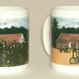 The Harvest (Tractors) Coffee Mug - Red Tractor