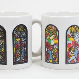Stained Glass with Angels Coffee Mug