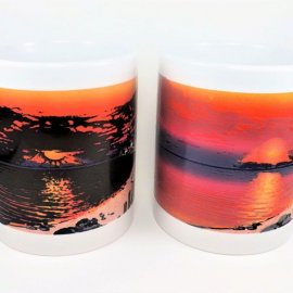 Original Summer Sunset Color Changing coffee mug - Lighthouse sunset