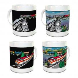 Trains 2 Color Changing Mug